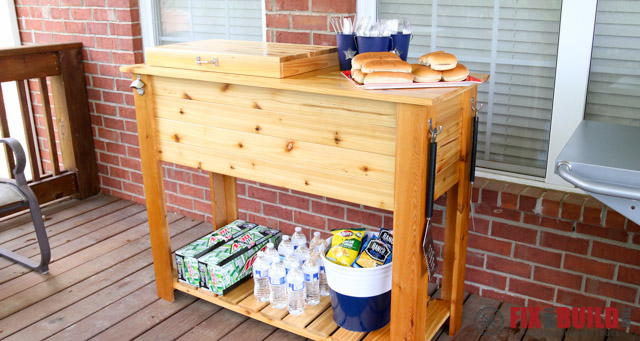 How to build aa Wooden Cooler Grill Cart.