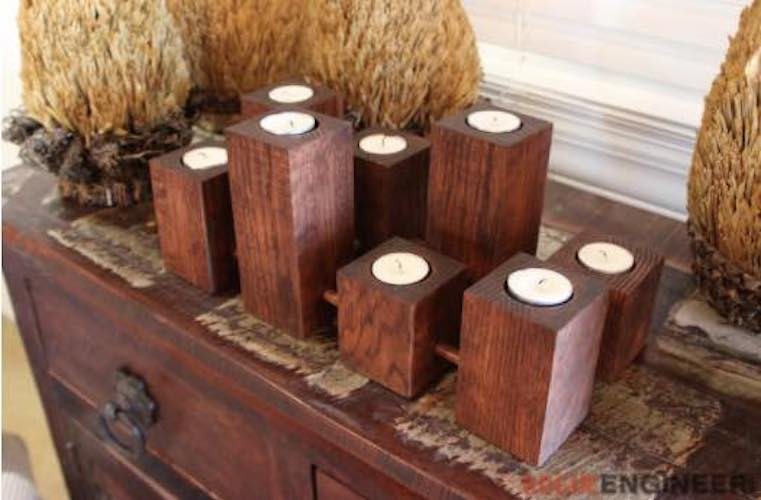 Free plans to build Candle Holders.