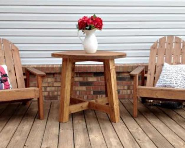 Round Modern Outdoor Table