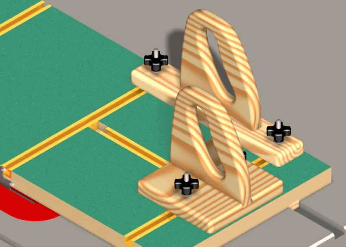 Free plans to make a Table Saw Jigs for Safety