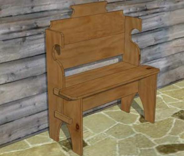 Free plans to build a Longhouse Chair.