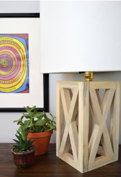 Free plans to build a Simple Table Lamp.