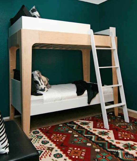 Build a set of Modern Bunk Beds using free plans.