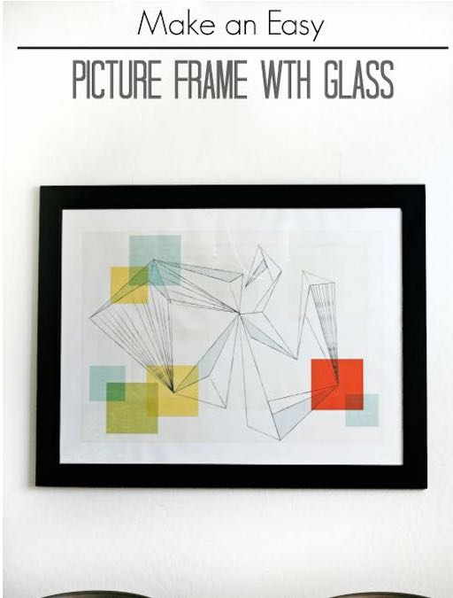 Build a Picture Frame With Glass using free plans.