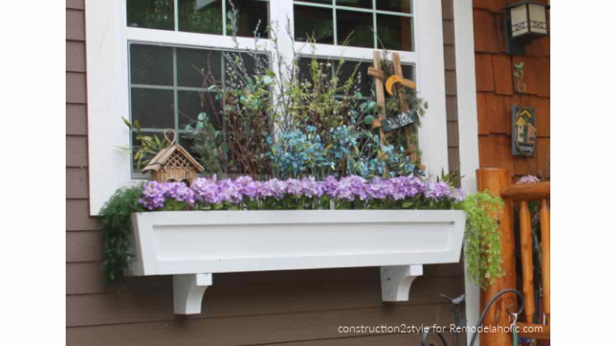 window box planters,window planters,diy,free woodworking plans,free projects,do it yourself