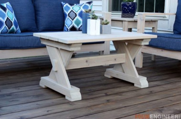 Free plans to build a Small Outdoor Coffee Table.