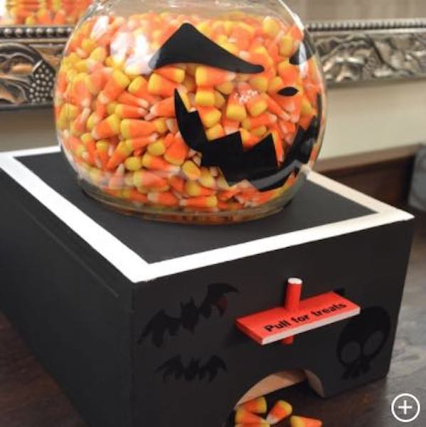 Build a Halloween Candy Dispenser using free plans.