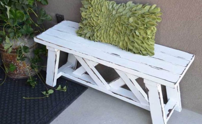 Build your own Outdoor Bench with free plans.