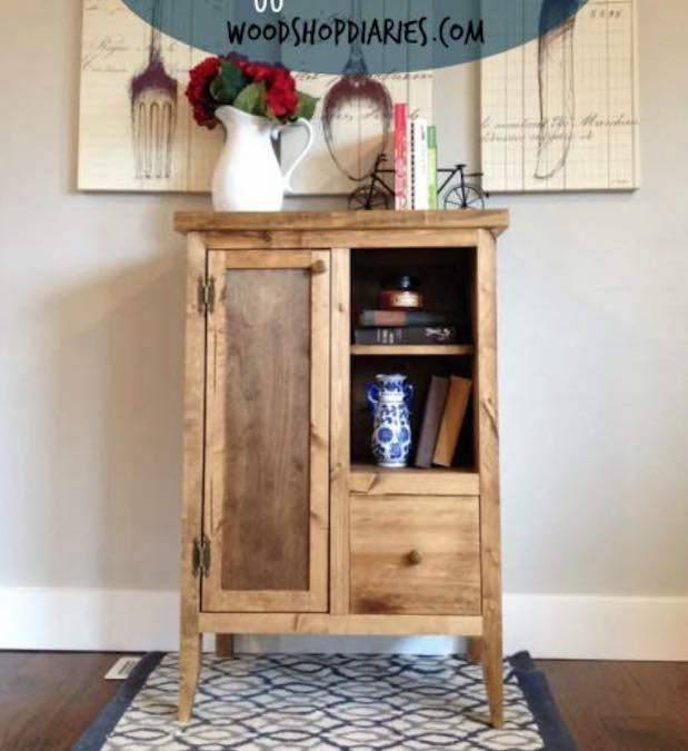 Free plans to build a Coffee Cabinet.