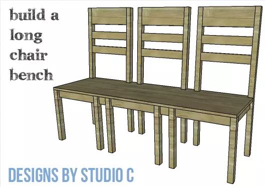 Free plans to build a Chair Bench.