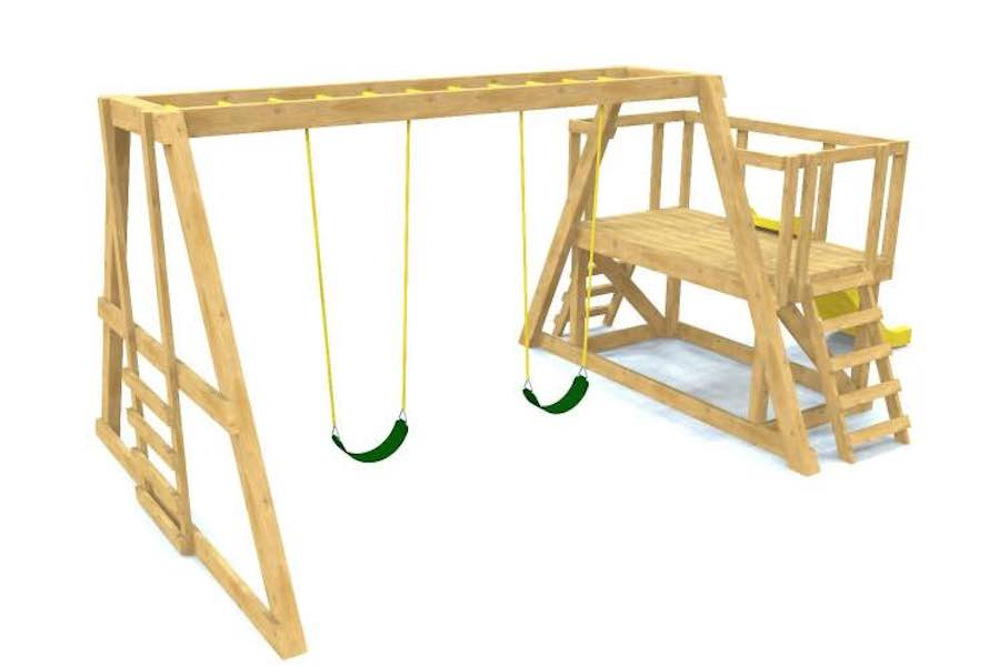 Free plans to build a Swing Set .