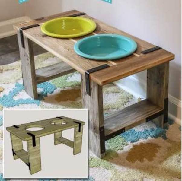 Build a Dog Bowl Feeder For Large Dog.