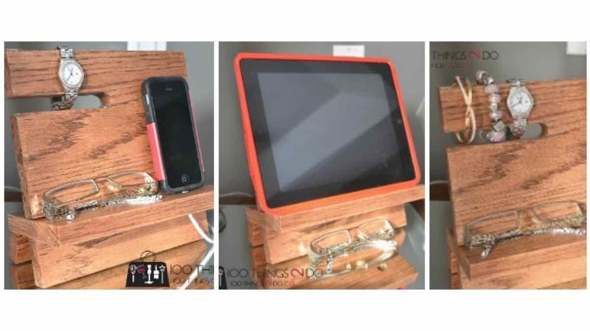 iphone stands,valet,diy,free woodworking plans,free projects,do it yourself