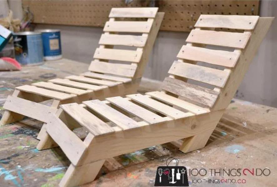Build a set of Patio Lounger Doll Furniture using free plans.