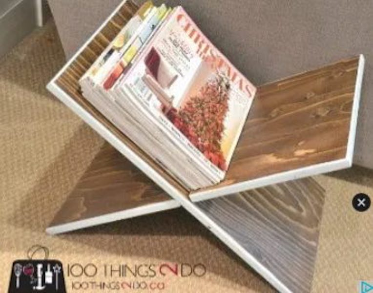 Build a Two Board Magazine Rack using free plans.