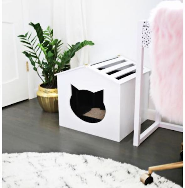 Build a Litter Box Cover using free plans.