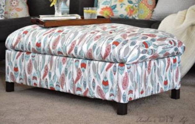 Build an Upholstered Ottoman using free woodworking plans.