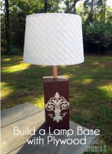 Free plans to build your own Lamp Base.
