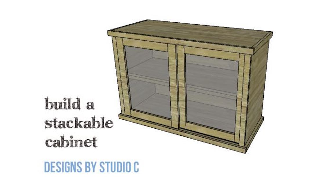 Free plans to build a Stackable Cabinet.
