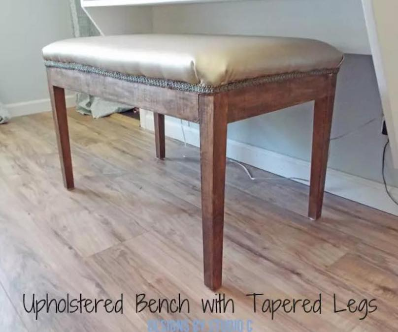 Free plans to build your own Upholstered Bench.