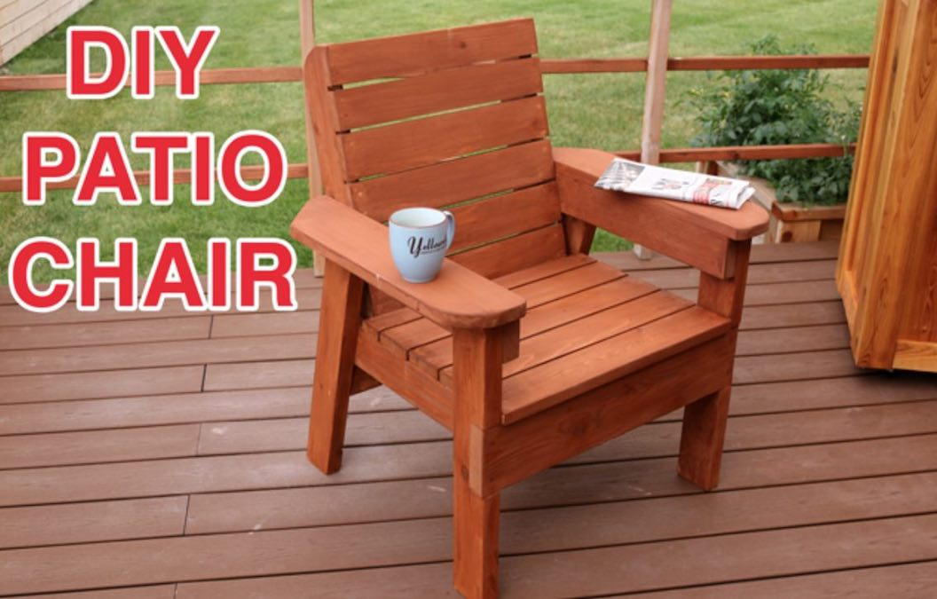 Free plans to build a Patio Chair.