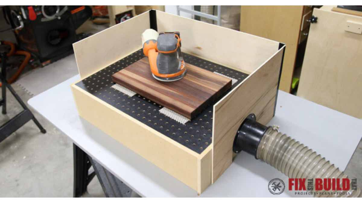 downdraft sanding,dust collection,diy,free woodworking plans,workshop projects,do it yourself