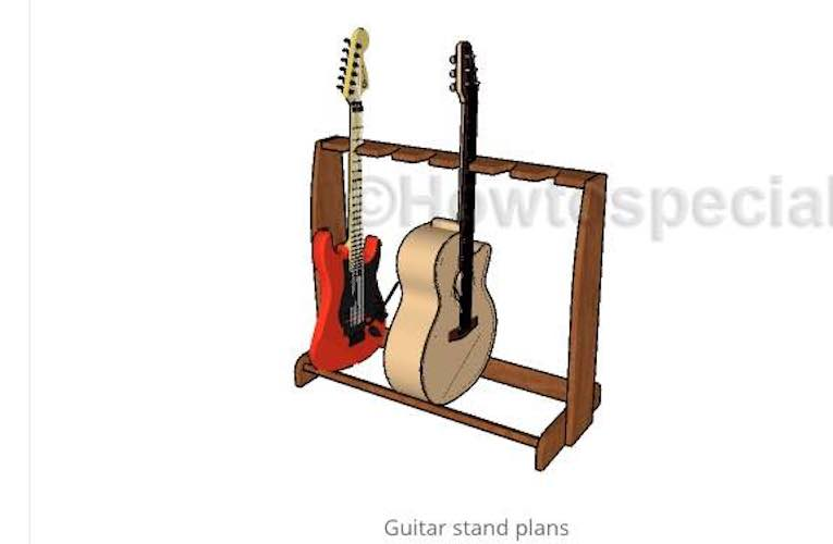 Free plans to build a Multi Guitar Stand.