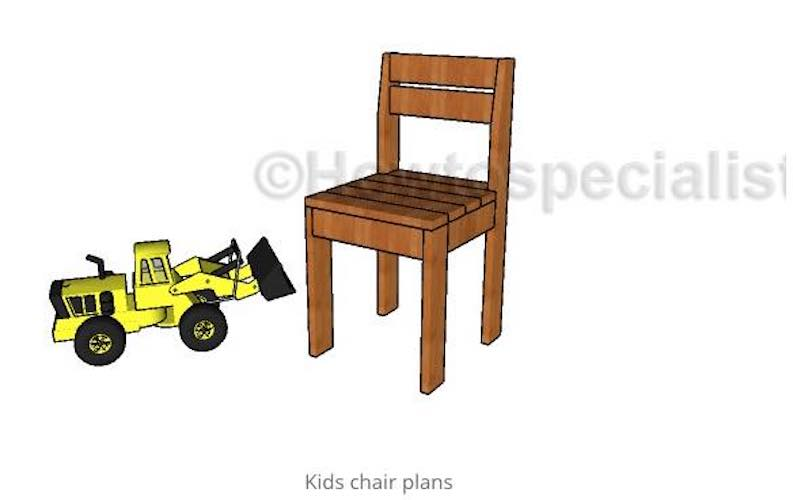 Build a Chair for Kids using free plans.