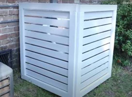 Build an Make an Air Conditioner Screen using free plans.