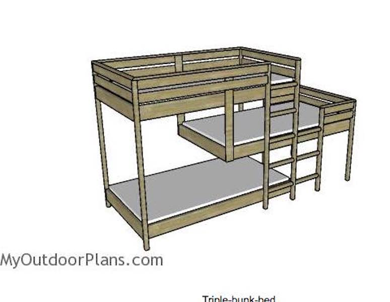 Free plans to build Triple Bunk Beds.