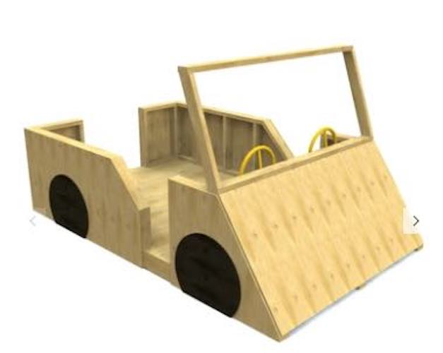 Free plans to build a Car Playhouse.