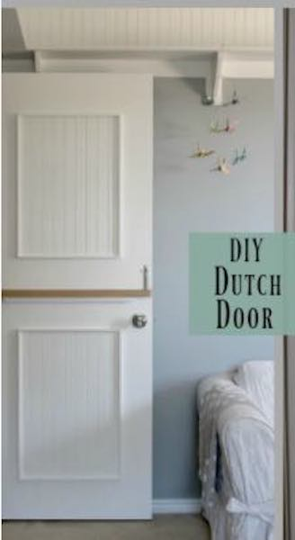 Build a Dutch Door using free plans.