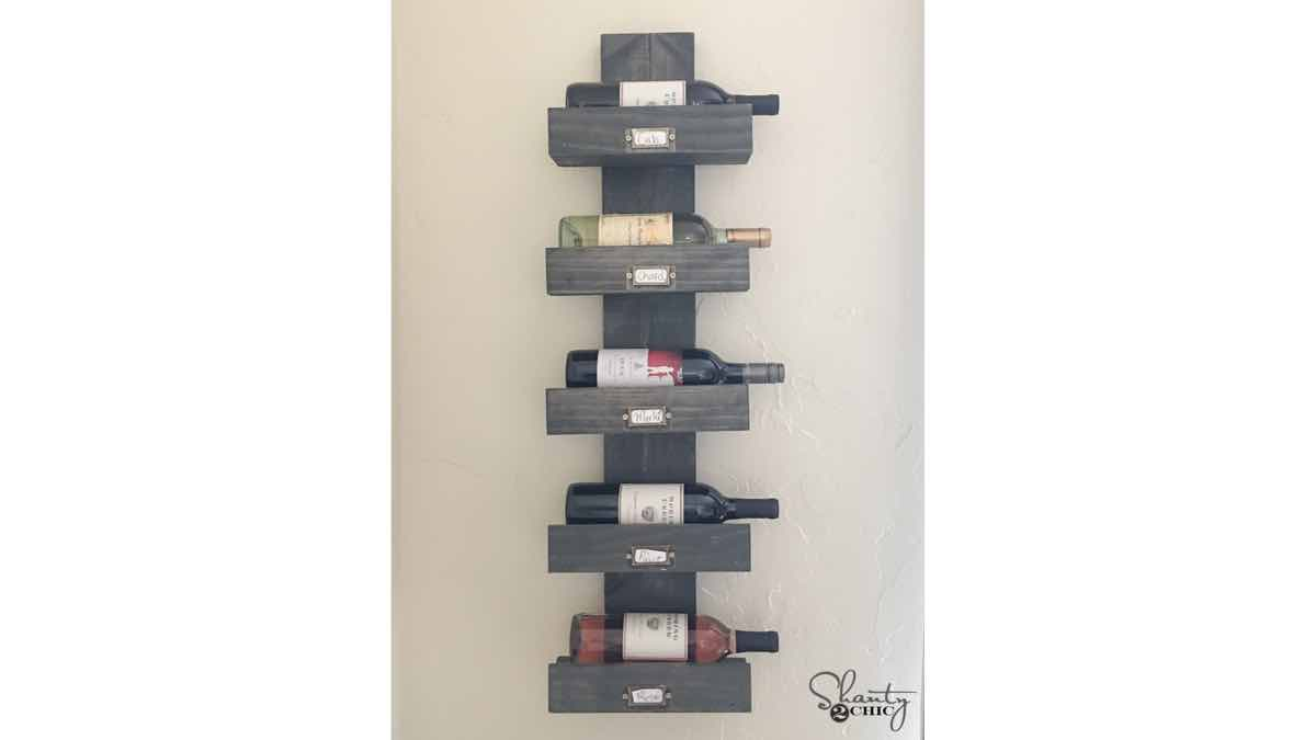 wall mounted wine racks,diy,free woodworking plans,free projects,do it yourself