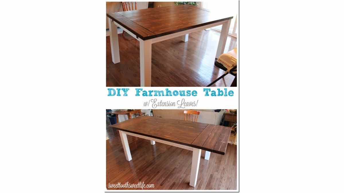 farmhouse dining tables,diy,free woodworking plans,free projects,do it yourself