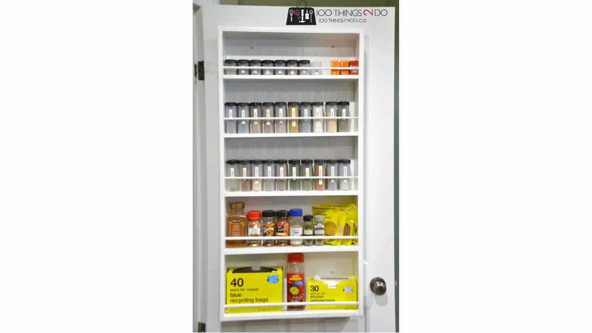 spice rack door mounted free woodworking plans