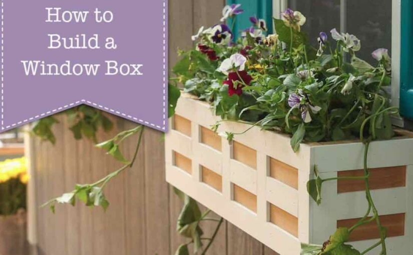 window boxes,flower boxes,diy,free woodworking plans,free projects,do it yourself