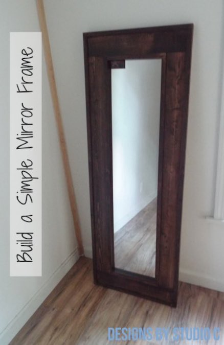 Build a Simple Mirror Frame using free plans.