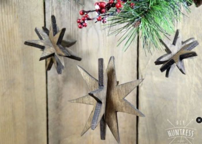 Star Ornaments From Scrap Wood