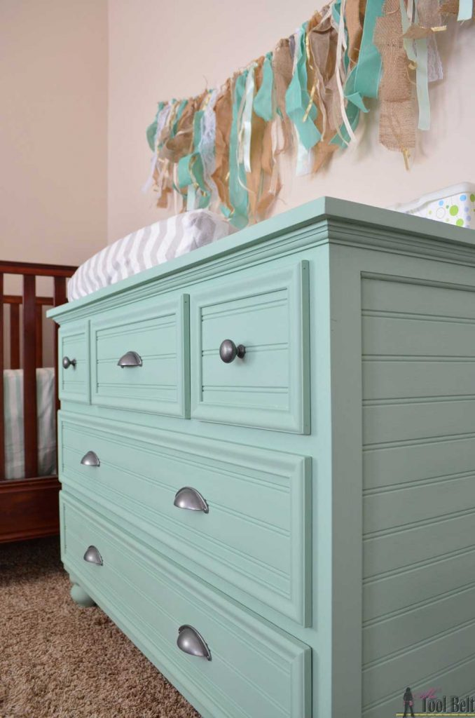 Changing Table free building plan.