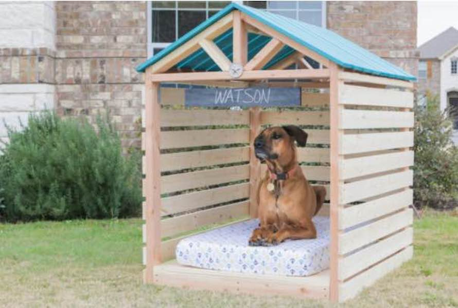 Build a large Doghouse Gazebo using free plans.