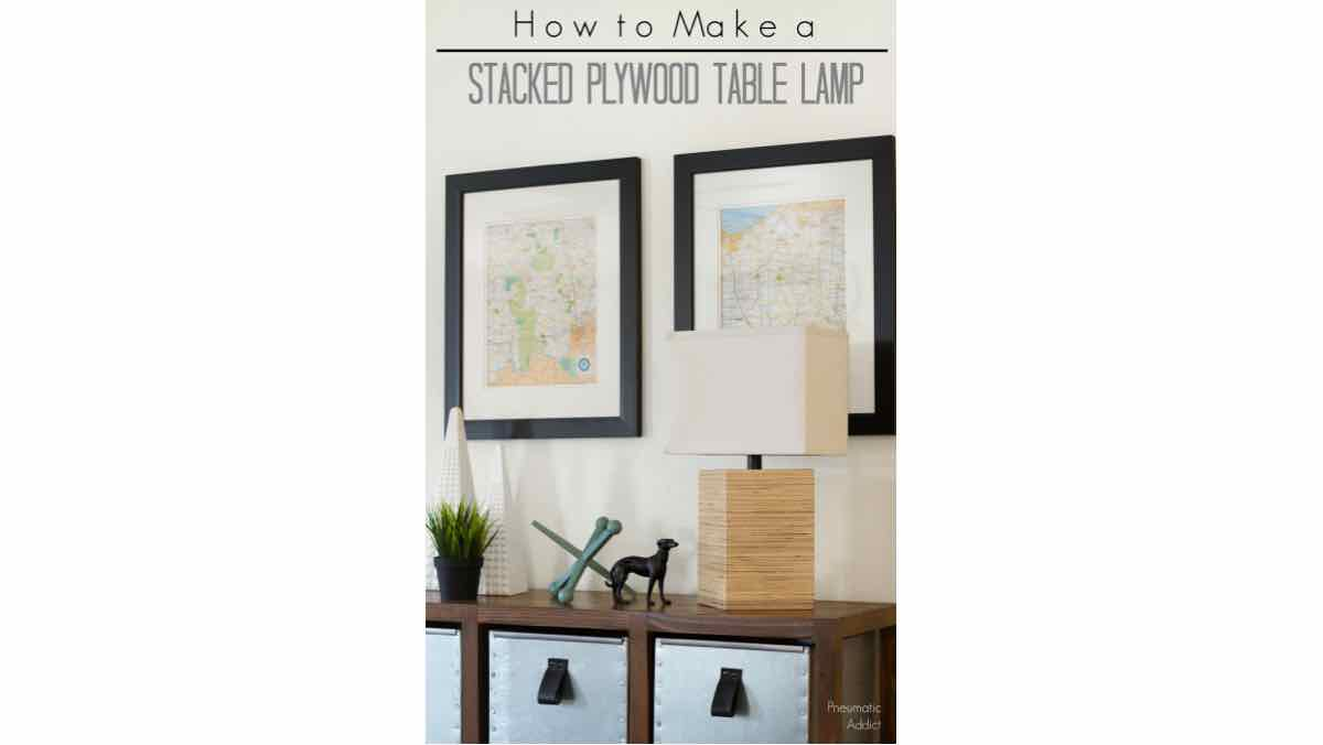 plywood,lamps,table lamps,diy,free woodworking plans,free projects,do it yourself