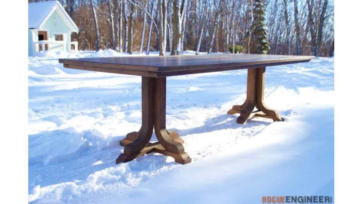 dining tables,pedestal tables,diy,free woodworking plans,free projects,do it yourself