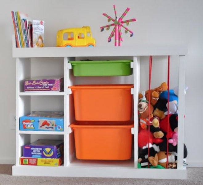 Free plans to build a Toy Organizer.