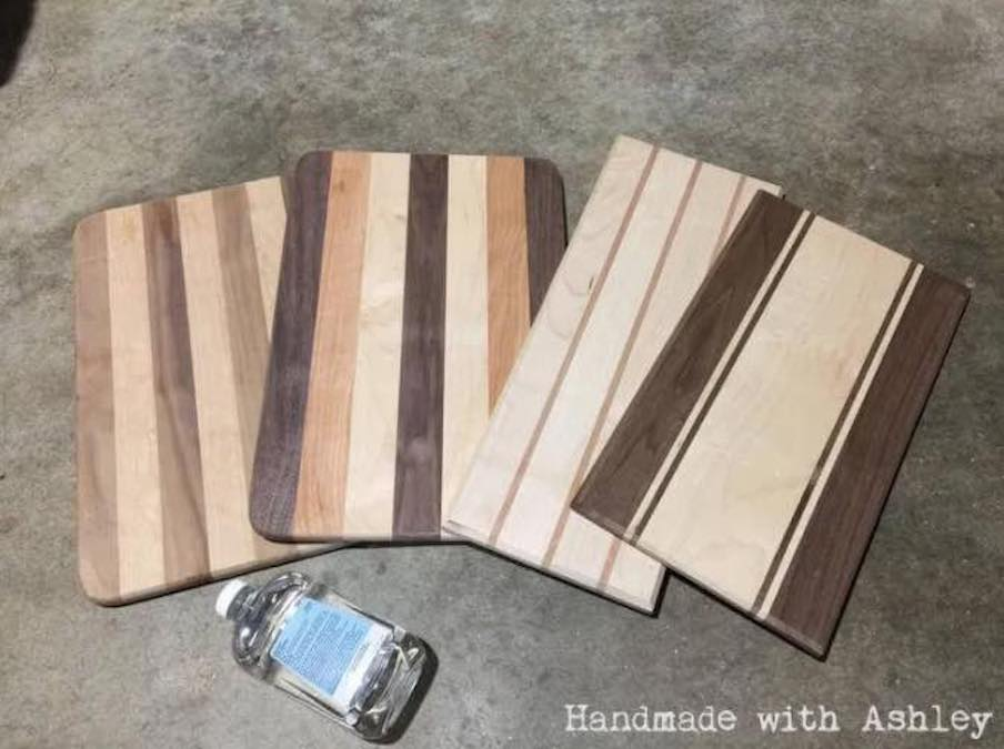 Build a Wooden Cutting Board using free plans.
