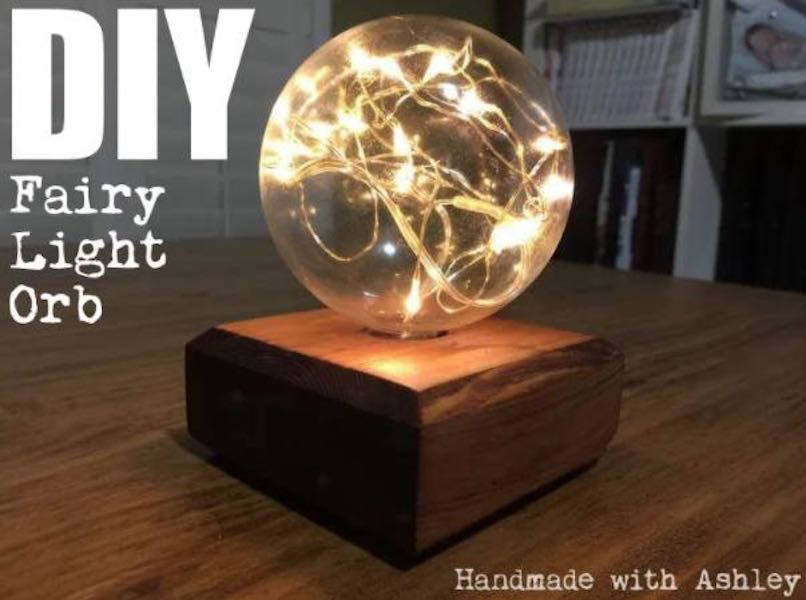 Build your own Fairy Light Globe using free plans.