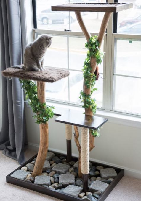 Free plans to build your own Cat Tree.