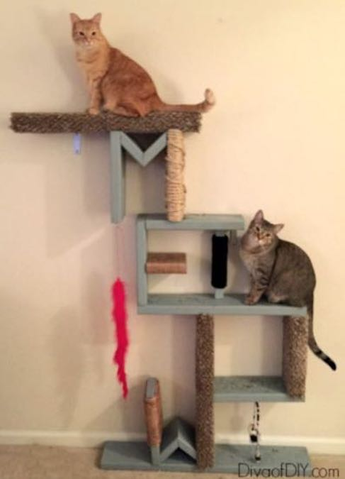 Build a Cat Scratching Post using free plans.