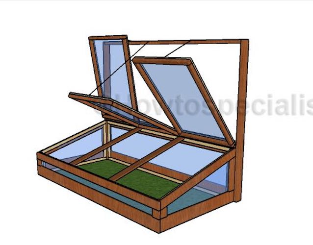 Free plans to build a 4 x 8 Ft Cold Frame.