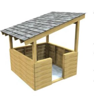 Free plans to build an Outpost Playhouse.