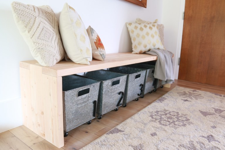 Free instructions to build a beautiful Waterfall Bench.